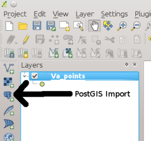 PostGIS Import Button
