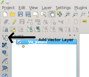 QGIS Add Vector Layer Button