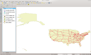 PRIMARYROADS in QGIS