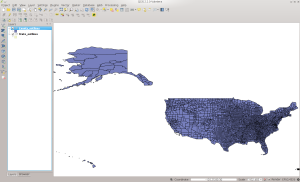 US County Outlines in QGIS