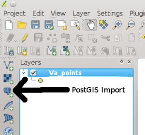 PostGIS Import Button