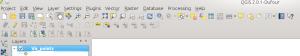 QGIS Toolbars and Menus