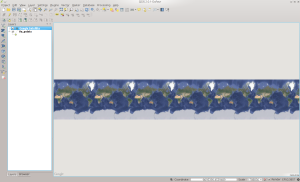 QGIS With Satellite Added